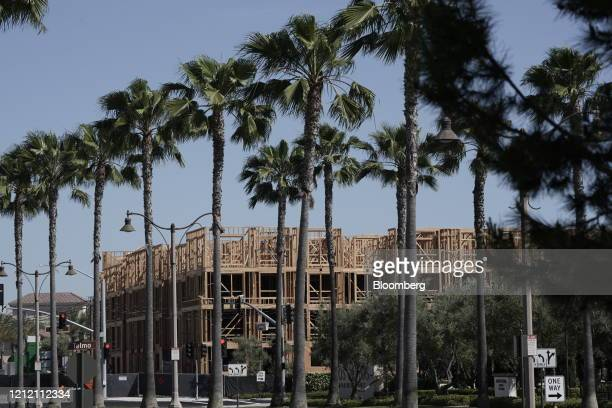 Apartment buildings stand under construction in the Los Olivos real estate development in Irvine, California, U.S. On Wednesday, May 6, 2020. Emptied...