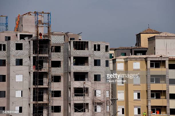 Apartment buildings under construction in Campo Limpo