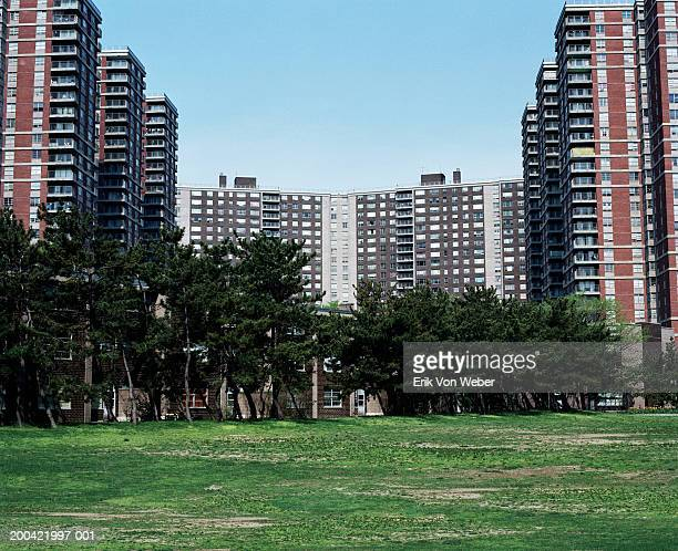 apartment complex - the bronx stock pictures, royalty-free photos & images