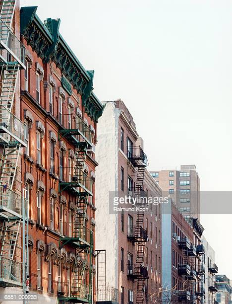 apartment houses - east village stock pictures, royalty-free photos & images