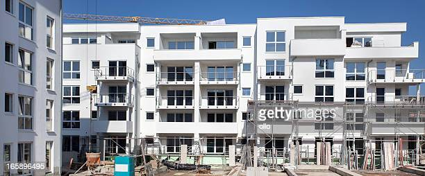 Apartment houses under construction