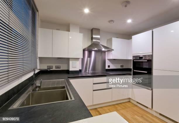 Apartment kitchen Central Park Apartments Lewisham London United Kingdom Architect bptw partnership 2014