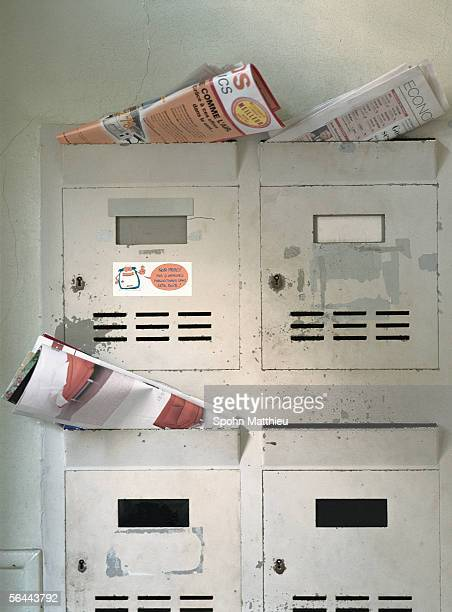 Apartment mailboxes