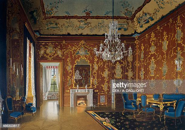 Apartment of Empress Maria Theresa Schoenbrunn Palace Vienna Austria print 19th century