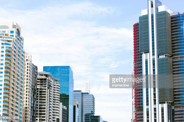 Apartments and office buildings, Barangaroo, Sydney Australia, background with copy space