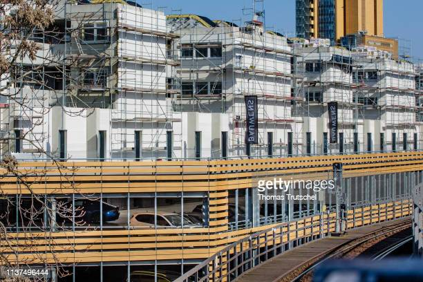 Apartments are built on a construction site next to a parking garage on April 16 2019 in Berlin Germany