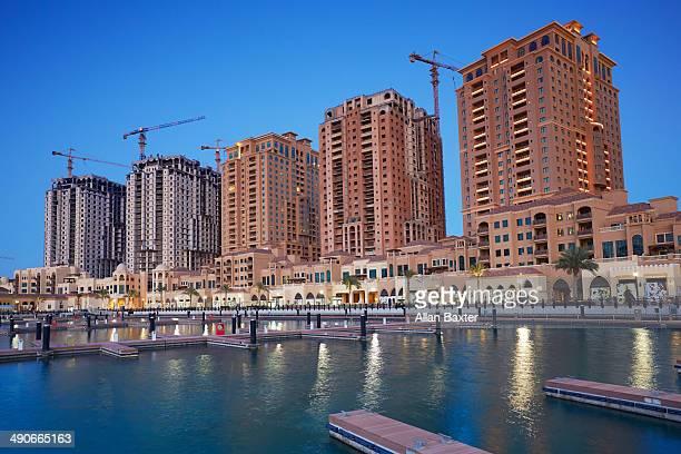 Apartments at The Pearl marina in Doha