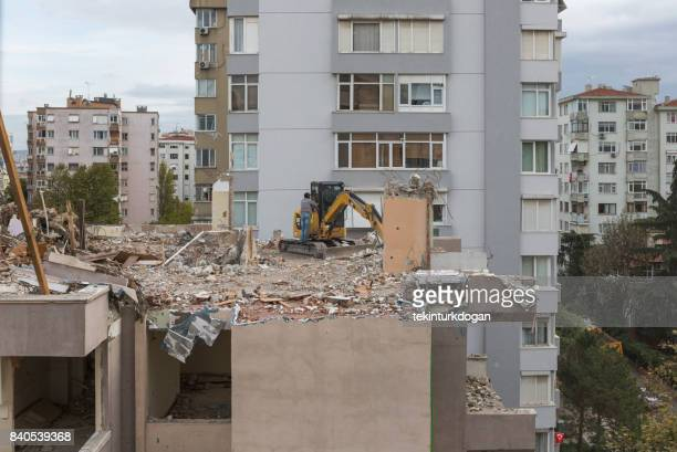 Apartments demolished for renewal at anatolian side town of kadikoy istanbul turkey