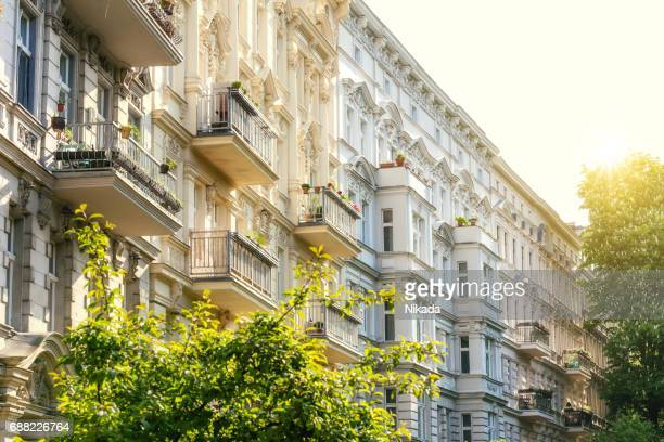 apartments in berlin kreuzberg - central berlin stock photos and pictures