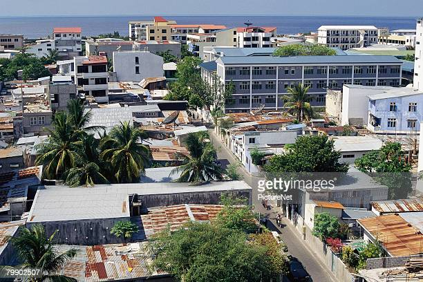 apartments in male - male maldives stock pictures, royalty-free photos & images
