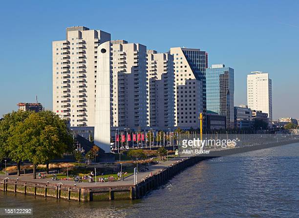 Apartments on the Rotterdam shoreline