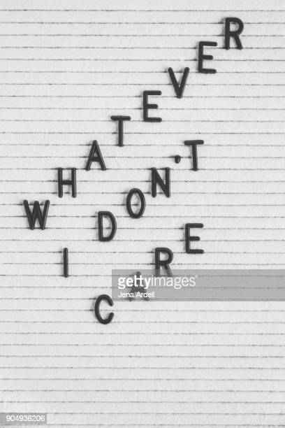 Apathetic Letter Board Phrase Whatever I Don't Care