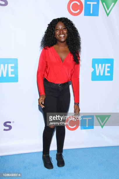 Apefa Adjivon arrives to WE Day Toronto and the WE Carpet at Scotiabank Arena on September 20 2018 in Toronto Canada