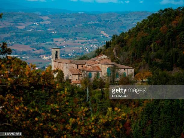 Apennines. Basilica Sant Ubaldo. Umbria. Italy. Europe.