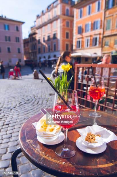 Aperitif in Trastevere. Rome, Italy.