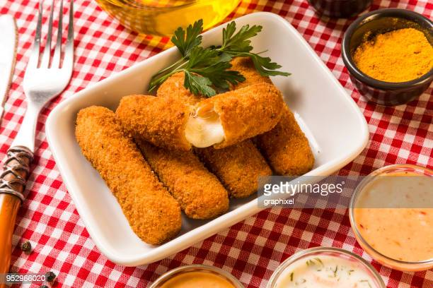 aperitif, nuggets and croquettes with cheese - croquette stock photos and pictures