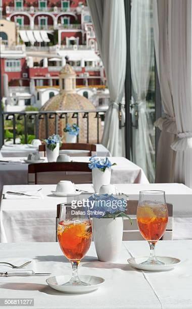 Aperitifs at the Hotel Miramare restaurant
