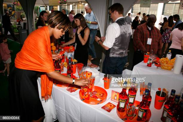 Aperol Booth attends Second Annual NEW TASTE of the UPPER WEST SIDE Fundraising Gala at Columbus Avenue Tent on May 30 2009 in New York City