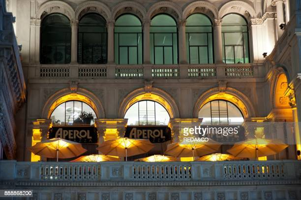 Aperol caf bar Galleria Vittorio Emanuele gallery Milano Lombardia Italy Europe
