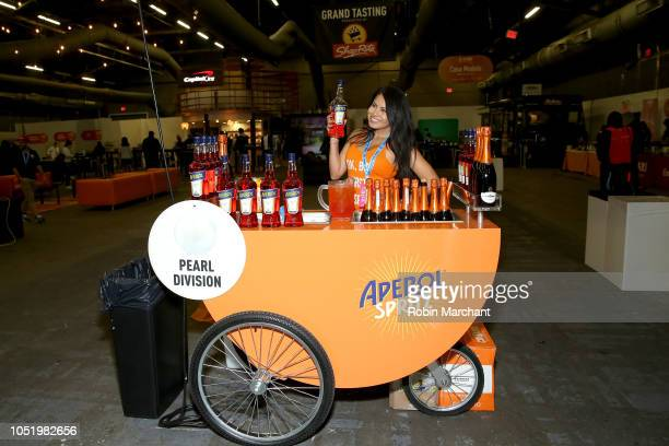 Aperol Spritz booth at the Food Network Cooking Channel New York City Wine Food Festival presented by Capital One Beverage Media presents Southern...