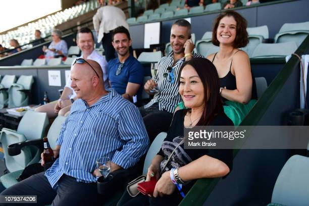 Aperol Spritz box during day two of the 2019 World Tennis Challenge at Memorial Drive on January 8 2019 in Adelaide Australia