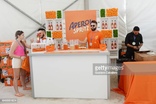 Aperol Spritz on display Goya Foods' Grand Tasting Village Featuring Mastercard Grand Tasting Tents KitchenAid Culinary Demonstrations on February 25...