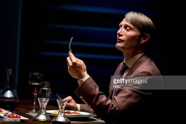 HANNIBAL Apertif Episode 101 Pictured Mads Mikkelson as Dr Hannial Lecter
