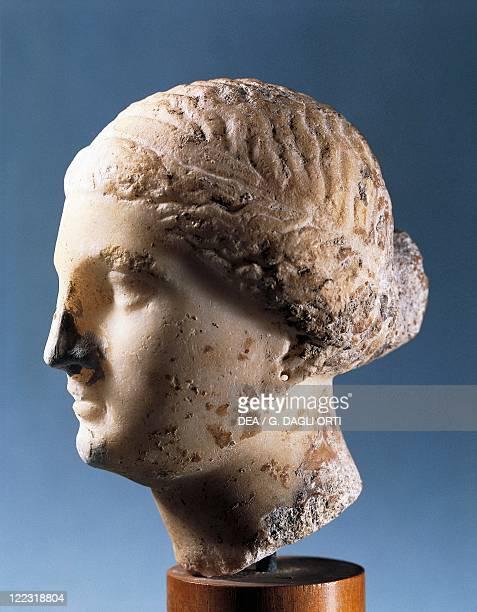 Aphrodite head, Copy after a Greek sculpture, alabaster.