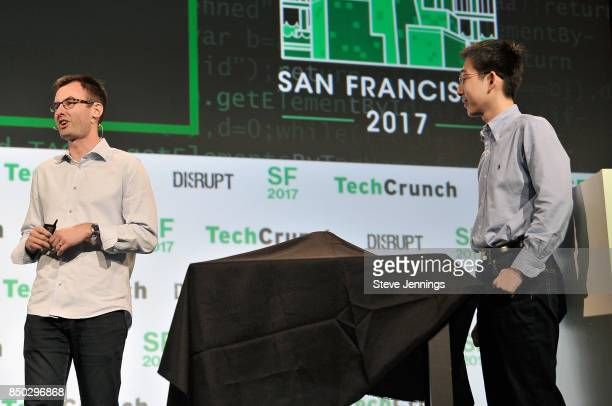 APi CoFounder and CEO John MacDonald and Pi CoFounder and CTO Lixin Shi participate in the Startup Battlefield finals during TechCrunch Disrupt SF...