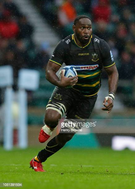 Api Ratuniyarawa of Northampton Saints during the Gallagher Premiership Rugby match between Northampton Saints and Leicester Tigers at Twickenham...