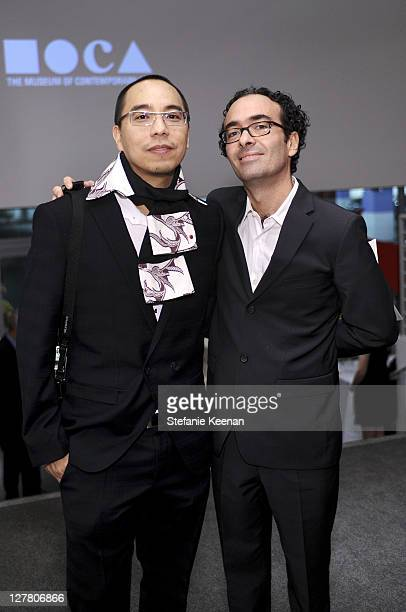 Apichatpong Weerasethakul and Jose Kuri attend 2011 REDCAT Gala Honoring Eli Edythe Broad and Apichatpong Weerasethakul at REDCAT on March 19 2011 in...
