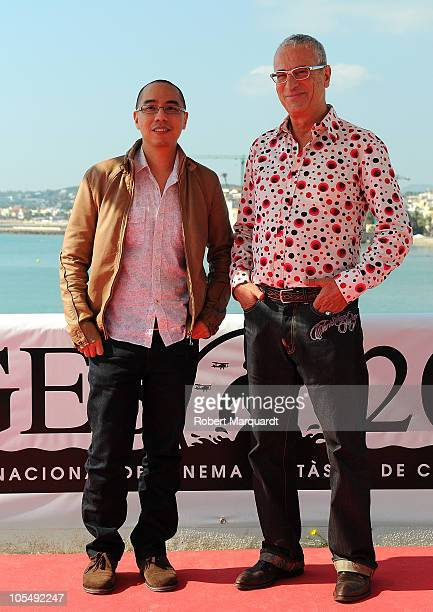 Apichatpong Weerasethakul and Lluis Minarro attend a photocall for his latest movie 'Uncle Boonmee Who Can Recall His Past Lives' at the 43rd Sitges...
