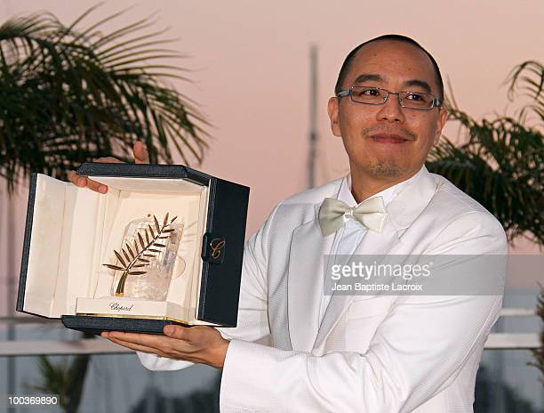 Apichatpong Weerasethakul attends the Palme d'Or Award Ceremony Photo Call held at the Palais des Festivals during the 63rd Annual International...