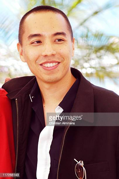 Apichatpong Weerasethakul during 2004 Cannes Film Festival Tropical Malady Photocall at Palais Du Festival in Cannes France