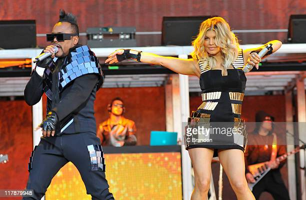 apldeap and Fergie of Black Eyed Peas perform on the Main Stage at the Wireless Festival on July 1 2011 in London United Kingdom