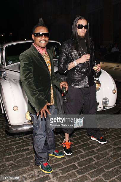 """Apl.De.Ap and Taboo during Samsung Celebrates Release of the K5MP3 Player and Fergie's Debut Album """"The Dutchess"""" at Tenjune in New York, NY, United..."""