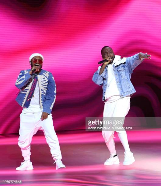 apldeap and william of Black Eyed Peas perform at the 2020 MTV Video Music Awards broadcast on Sunday August 30 2020 in New York City