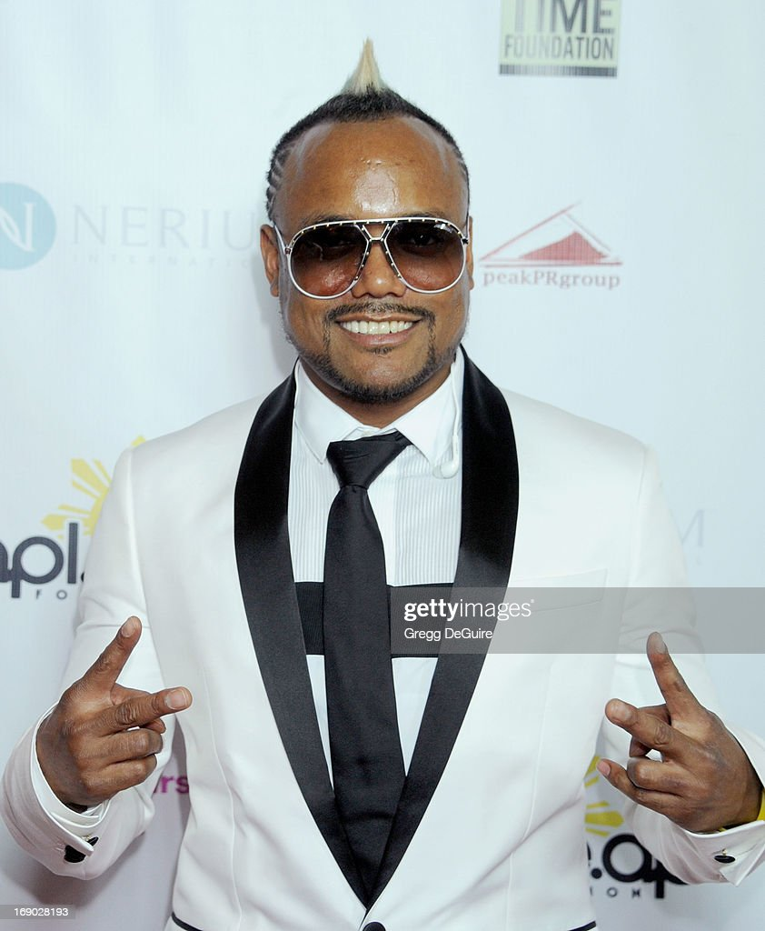 Apl.de.Ap arrives at the Time For Hope fundraiser gala benefiting This Time Foundation and The Apl.de.ap Foundation International at Regent Beverly Wilshire Hotel on May 18, 2013 in Beverly Hills, California.