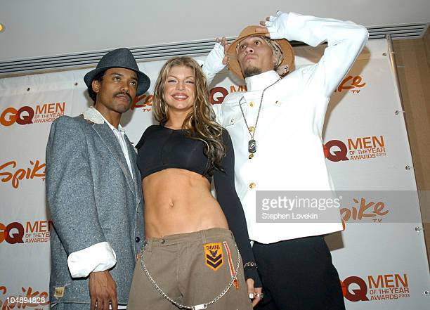 apldeap Fergie and Taboo of Black Eyed Peas during Spike TV Presents 2003 GQ Men of the Year Awards Press Room at The Regent Wall Street in New York...