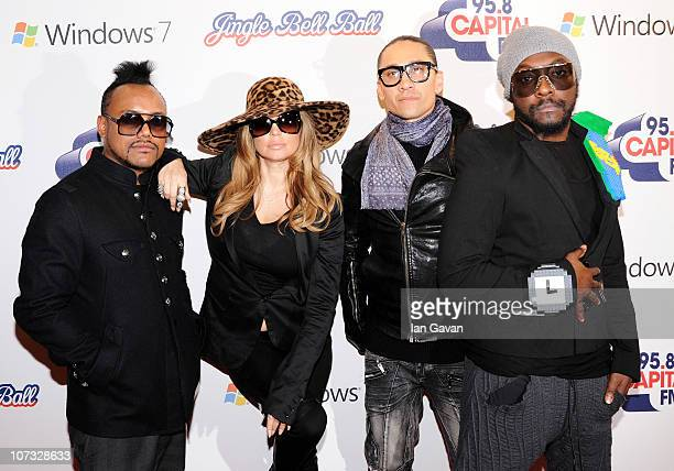 apldeap Fergie Taboo and william of the The Black Eyed Peas attends Jingle Bell Ball 2010 at O2 Arena on December 4 2010 in London England