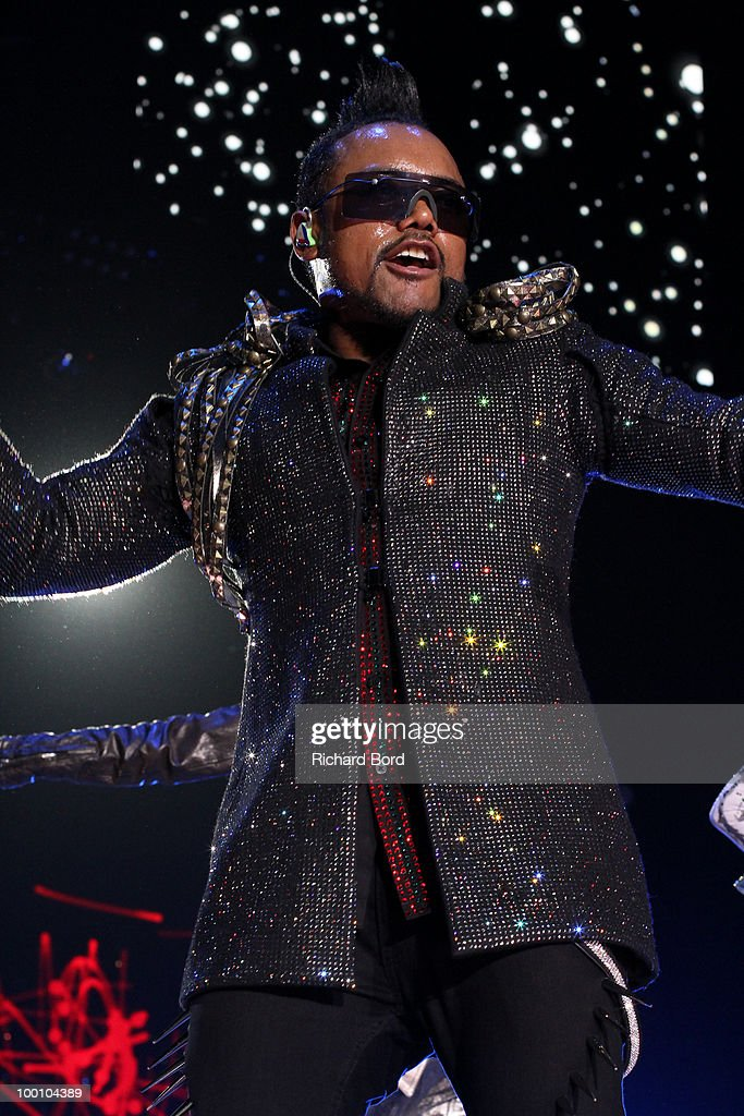 Apl.de.ap of Black Eyed Peas performs live on stage during a concert at Palais Omnisports de Bercy on May 20, 2010 in Paris, France.