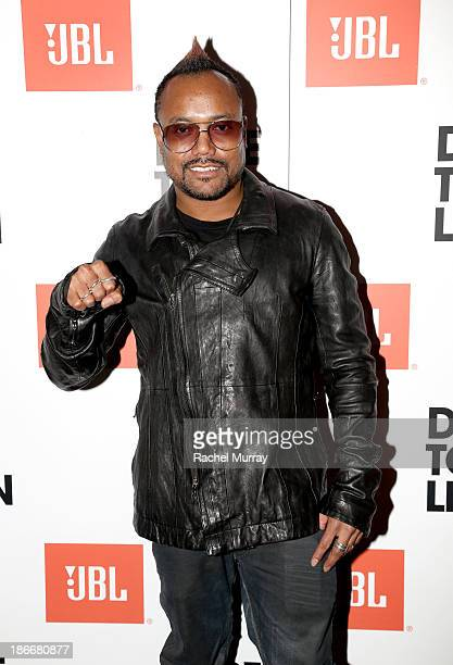 ApldeAp of The Black Eyed Peas attends JBL 'Dare to Listen' Synchros S700 Headphone Los Angeles launch with DJ Jermaine Dupri at W Hollywood on...