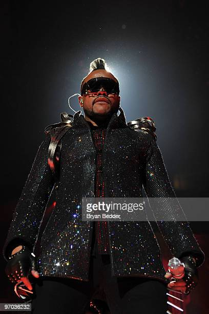 ApldeAp of the Black Eyed Peas performs at Madison Square Garden on February 24 2010 in New York City