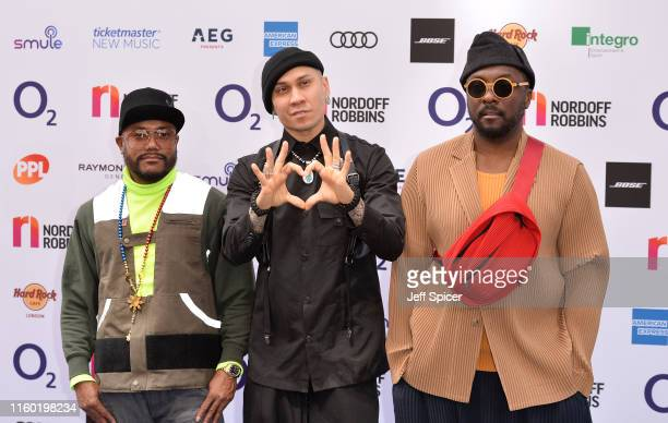 apldeap Taboo and william from The Black Eyed Peas attend the Nordoff Robbins O2 Silver Clef Awards 2019 at the Grosvenor House on July 05 2019 in...