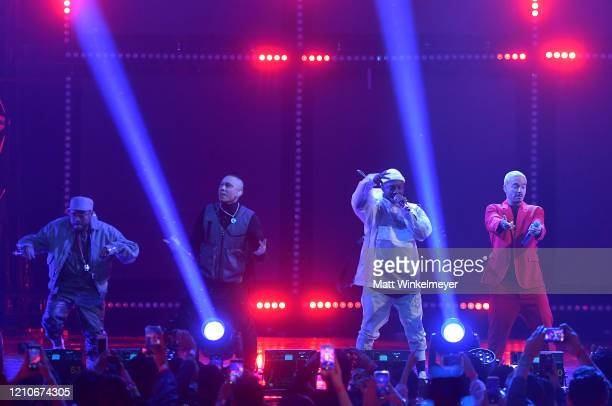 Apldeap Taboo and william of The Black Eyed Peas and J Balvin perform onstage during the 2020 Spotify Awards at the Auditorio Nacional on March 05...