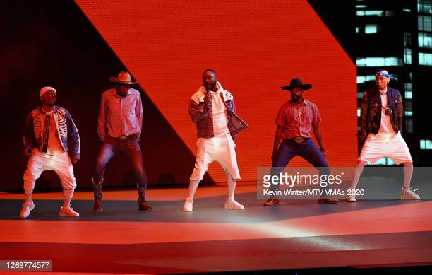 apldeap william and Taboo of Black Eyed Peas perform at the 2020 MTV Video Music Awards broadcast on Sunday August 30 2020 in New York City