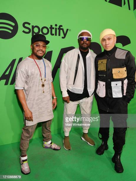 Apldeap william and Taboo of The Black Eyed Peas attend the 2020 Spotify Awards at the Auditorio Nacional on March 05 2020 in Mexico City Mexico