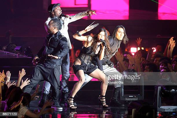 Apl.De.Ap, will.i.am, Fergie and Taboo of Black Eyed Peas perform during the MTV Video Music Awards Japan 2009 at Saitama Super Arena on May 30, 2009...