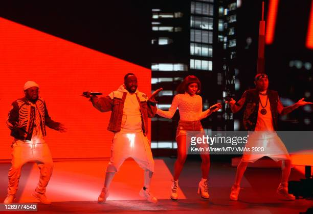 apldeap william J Rey Soul and Taboo of Black Eyed Peas perform at the 2020 MTV Video Music Awards broadcast on Sunday August 30 2020 in New York City