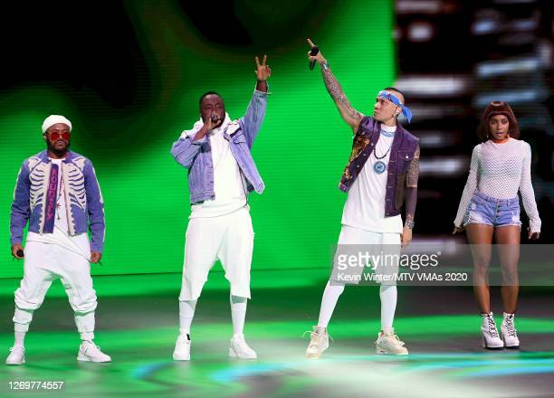 apldeap william Taboo and J Rey Soul of Black Eyed Peas perform at the 2020 MTV Video Music Awards broadcast on Sunday August 30 2020 in New York City
